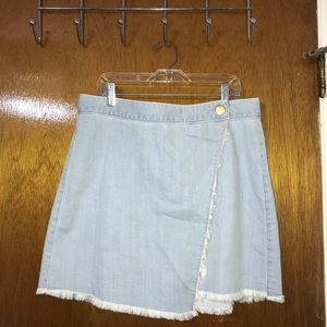 Express Wrap Denim Skirt
